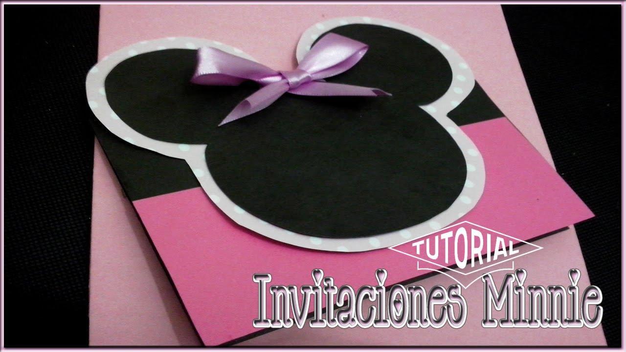 Invitaciones De Minnie Mouse Rosa Youtube