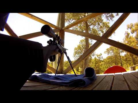 243 Cal Sniper Rifle Bolt Action Target Shooting!!! GOPRO Stock Mount.