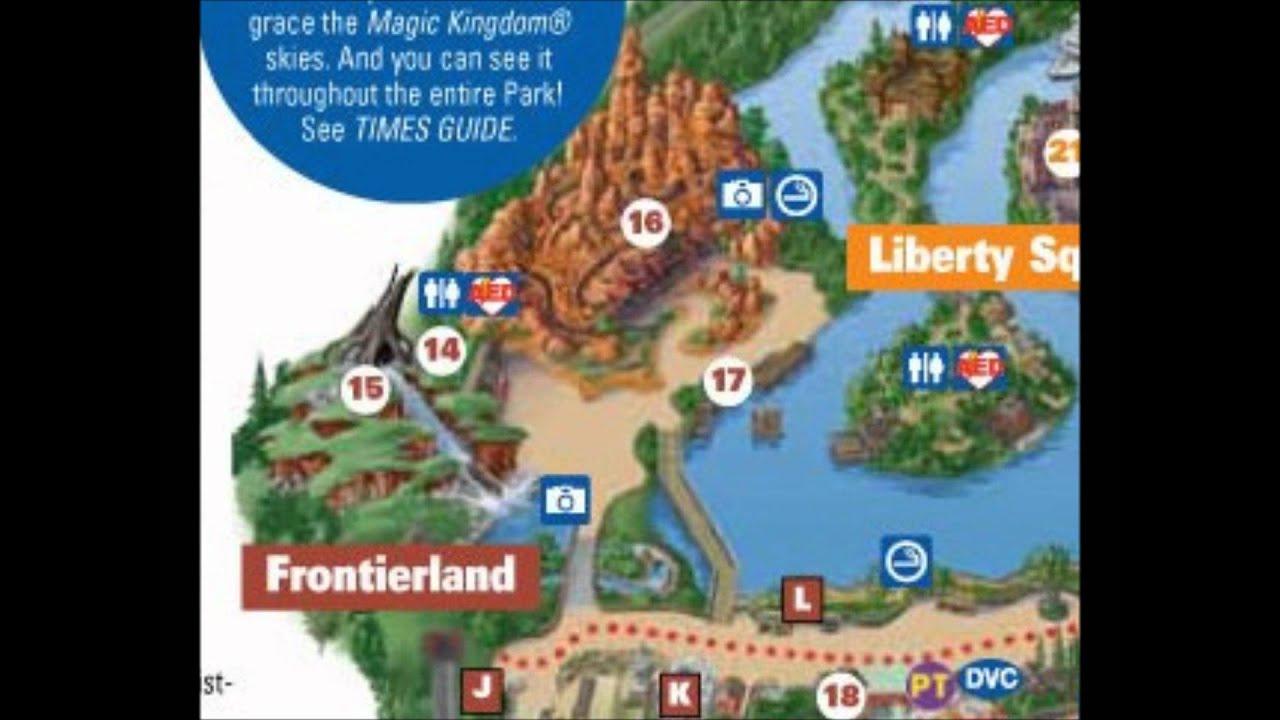Frontierland Disney World Interactive map - YouTube