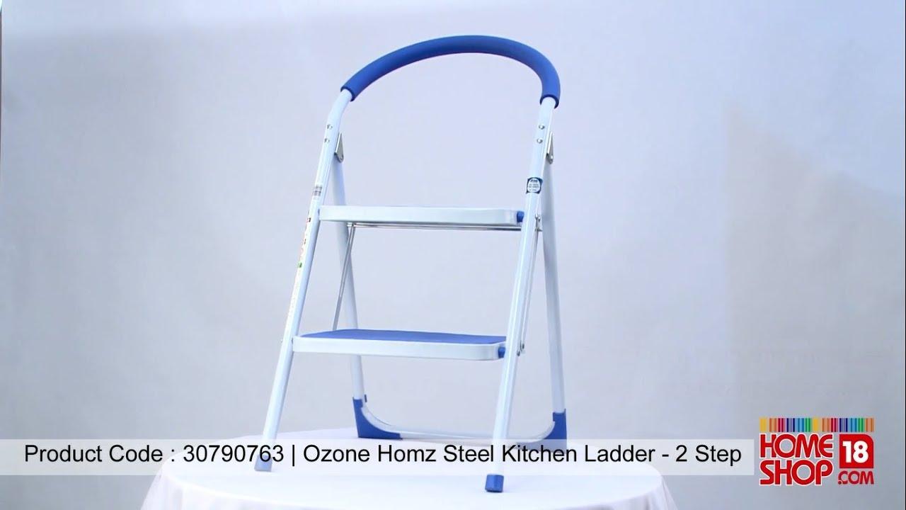 Homeshop18.com   Ozone Homz Steel Kitchen Ladder   2 Step