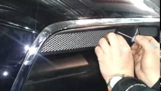 Установка защитной сетки радиатора для Mitsubishi Lancer X 2012 2 шт  chrome