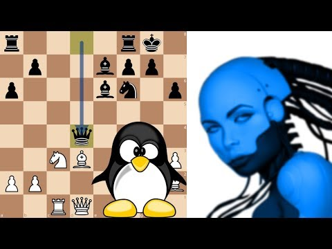 Neural Network AI Leela Chess Zero vs Chess Grandmaster Andr
