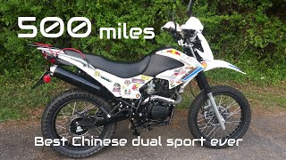 500 mile REVIEW on my $1,300 TAO TAO TBR7 250cc Chinese dual sport