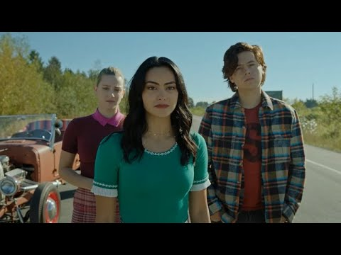 Download Riverdale Season 5 Episode 3, Veronica, Betty and Jughead Chase After Archie in the Army Bus