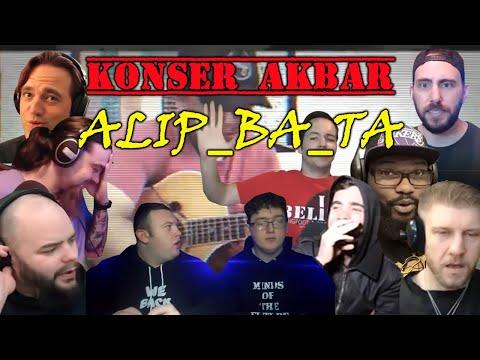 AMAZING REACTION ALIP BA TA || SWEET CHILD O'MINE (SUB INDO) || Konser Akbar Alip Ba Ta