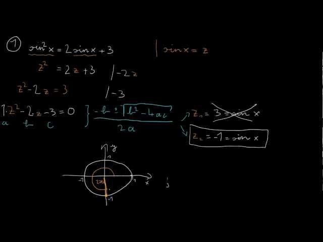 Trigonometrikus egyenletek - 1. feladat