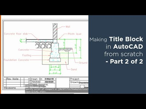 How To Create Title Block And Its Template In Autocad Part 2 Of 2