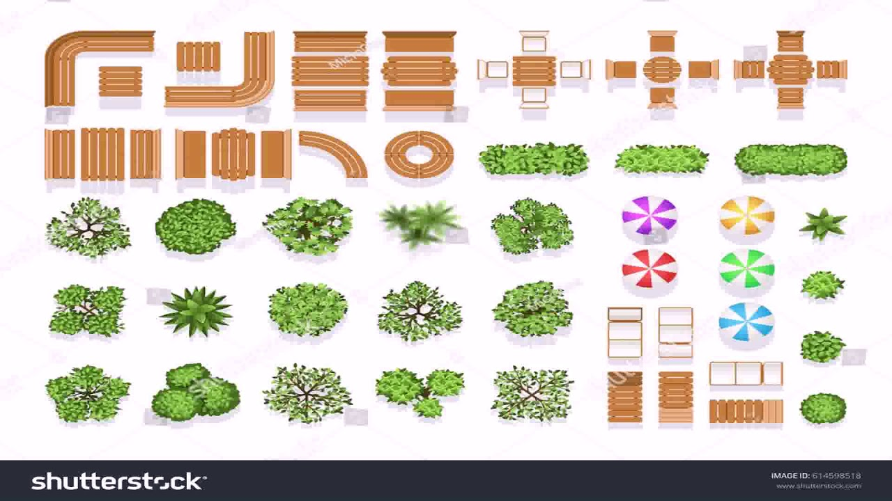 Landscape Design Drawing Symbols Youtube