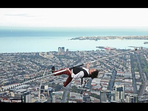 Daredevil Walks Between Two Buildings On High Wire Ft Above - Nik wallendas epic blindfolded skyscraper tightrope walk