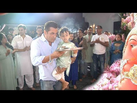 Ganesh Pooja At Salman Khan House 2k19 Complete INS!D€ Video High Definition