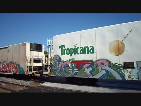 CSX Juice Train Arrives At Tropicana Plant Bradenton Florida