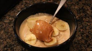 ★ Easy Bodybuilding High-protein Dessert: Peanut Butter Banana Frozen Yogurt