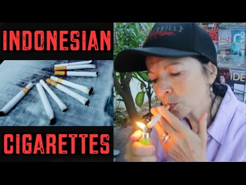 My Mom Tries Indonesian Cigarettes