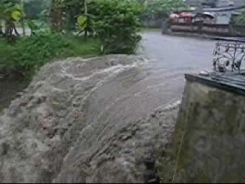 Flash Flood Video Before and After Rain,  Ubud Bali Indonesia