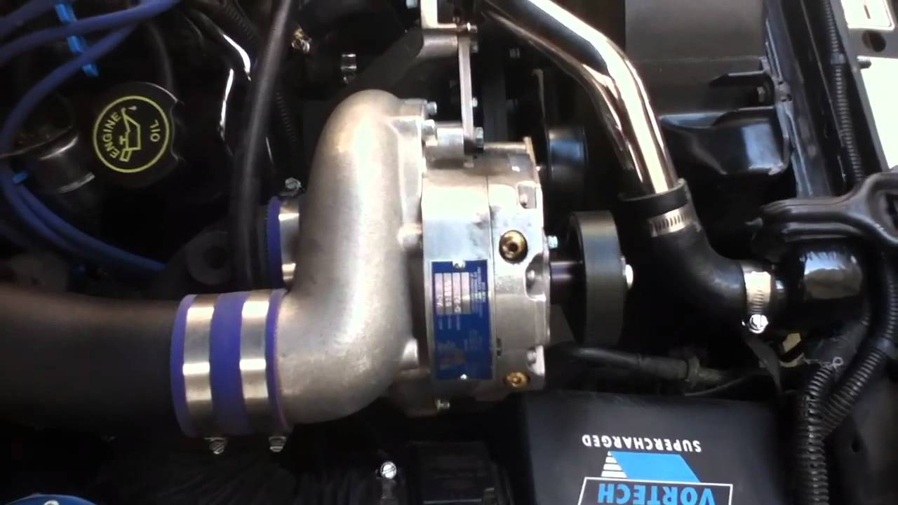 1995 Mustang Cobra >> Vortech V3 Sci Trim supercharger on 1993 Cobra Mustang - YouTube