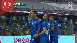 Gol de Milton Caraglio | América 0 - 1 Cruz Azul | Clausura 2019 - Cuartos Ida | Televisa Deportes