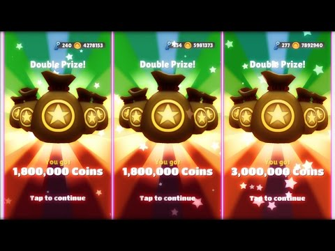 Super Mega Jackpot And Two Mega Jackpots On Subway Surfers!