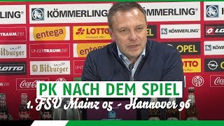 PK nach dem Spiel | FSV Mainz  05 - Hannover 96