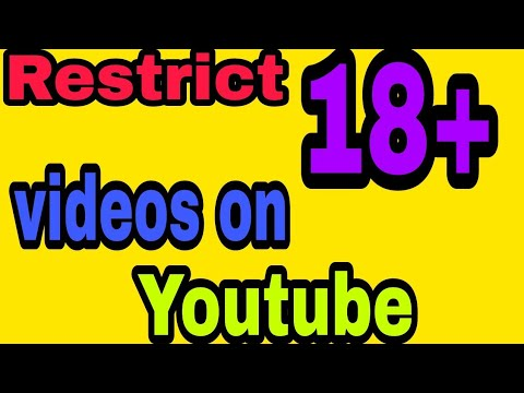 How to remove age restricted 18+ videos on youtube