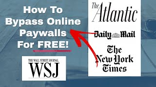 How To Bypass OnĮine Paywalls For Free | Easy Method Works 100% Of The Time | Avoid Paywalls