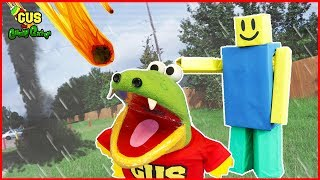 Roblox Natural Survival Disaster In Real Life Family Fun Kids Pretend Playtime