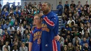 Bensalem's Kevin Grow with the Harlem Globetrotters