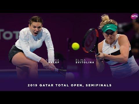 Simona Halep vs. Elina Svitolina | 2019 Qatar Total Open Semifinals | WTA Highlights