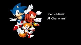 Roblox Sonic Mania: All Characters