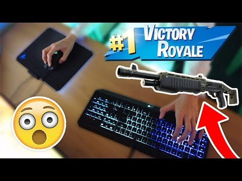 *NEW* PUMP SHOTGUN (HIGH KILL SOLO WIN) + KEYBOARD CAM (Fortnite Battle Royale)