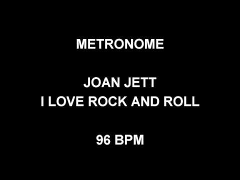 Metronome 96 Bpm Joan Jett I Love Rock And Roll Youtube