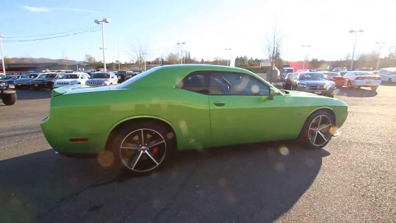 2011 dodge challenger srt8 392 green with envy stk557041 everett snohomish