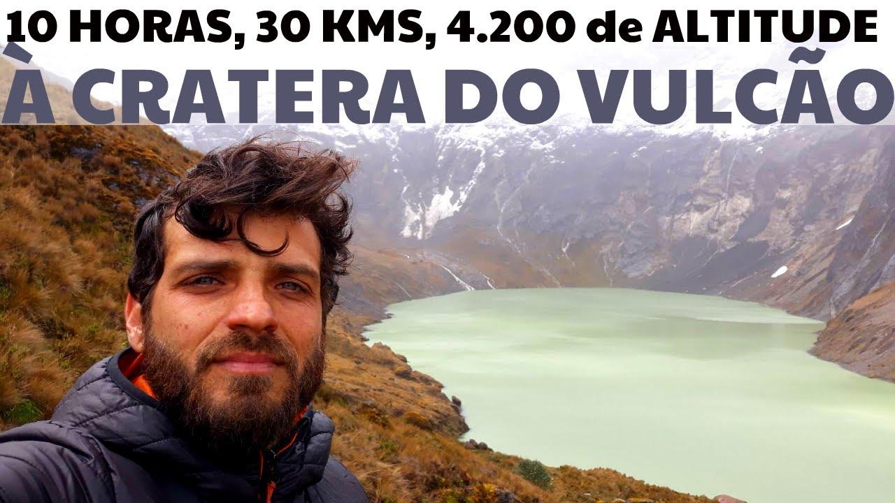 Trekking à Laguna Amarilla dentro da Cratera do Volcán El Altar (Ep.: 131)
