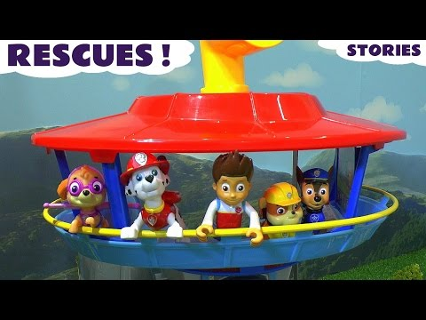 Paw Patrol and Thomas and Friends Rescues - Toy Stories with Peppa Pig and Mashems ToyTrains4u
