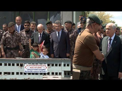 Devlet Bahçeli Gölbaşı'ndaki Özel Harekat Merkezi'ni ziyaret etti