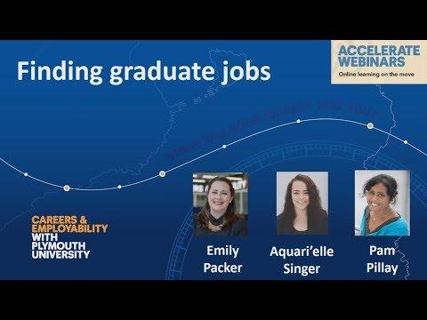 Finding graduate jobs – webinar recording