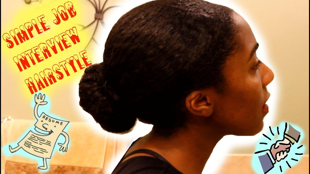 Job Interview Hairstyle for Natural Hair - YouTube