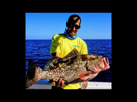 Offshore fishing and hooked up to my Personal Best Red Grouper
