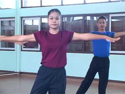 การออกกำลังกายเพื่อสุขภาพโดยวิธีใช้ศิลปะนาฎศิลป์พื้นบ้านภาคกลาง