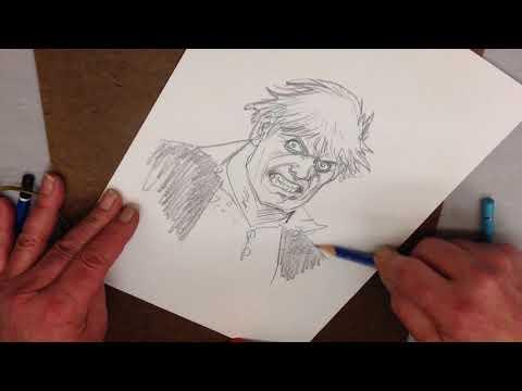 José Luis García-López dibuja a Solomon Grundy en el ComikD de San Sebastián 2018