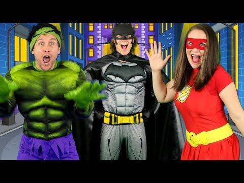 Alphabet Superheroes - ABC Superhero Song for Kids | Batman, Spiderman, PJ Masks, Incredibles, Hulk