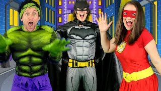 Alphabet Superheroes - ABC Superhero Song for Kids | Batman, Spiderman, PJ Masks, Incredibles, Hulk