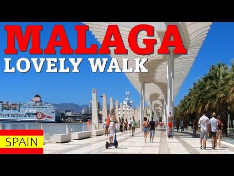 MALAGA CITY Walk Through the Port August 2021 Spain Costa del Sol