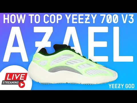 How to Cop adidas YEEZY 700 V3 AZAEL GLOW Yeezy Supply Shock Drop YEEZY GOD LIVE STREAM