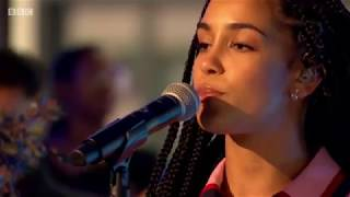 Jorja Smith - Blue Lights. Live on The One Show. Full HD. 8 June 2018. Album: Lost & Found
