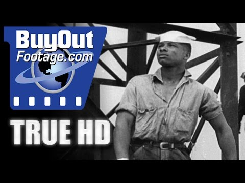 HD Historic Stock Footage WWII - AFRICAN AMERICAN SAILORS
