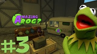 Kermit Plays The Amazing Frog? #3 - Sharks! Fail Boat, Epic 360 Van Flip and a Giant Dartboard!