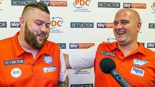 Michael Smith and Rob Cross - Team England Through first round