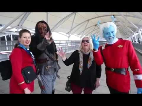 Download William Shatner and Jeri Ryan at the Star Trek convention at Excel London in Newham