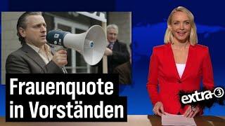 """""""extra 3""""-Extra: Frauenquote in Vorstandsetagen"""