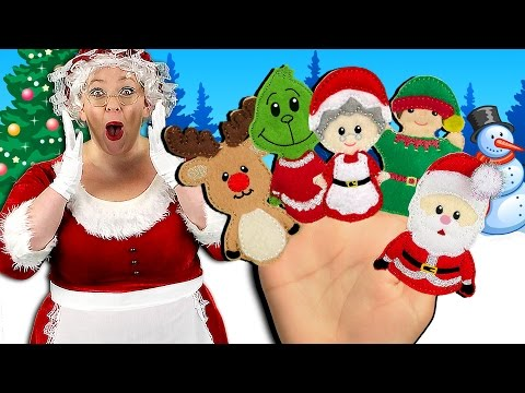 Thumbnail: Christmas Finger Family Song | Holidays Finger Family Nursery Rhyme for kids